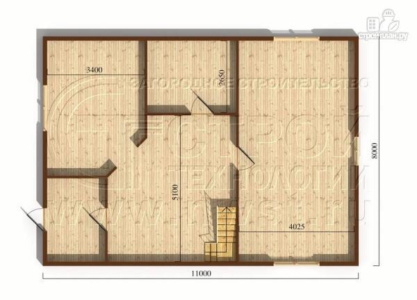 Фото 5: проект загородный дом 8x11 мс мансардным этажом