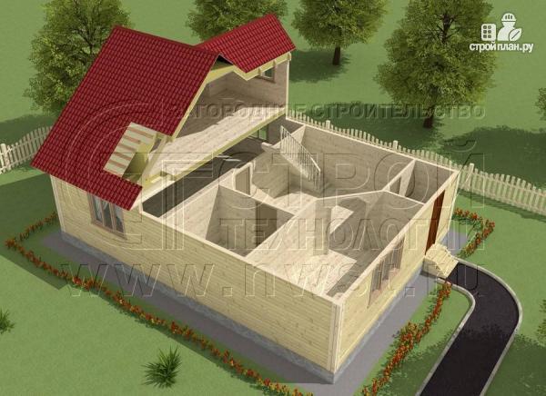 Фото 4: проект загородный дом 8x11 мс мансардным этажом