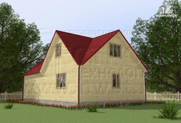 Фото 2: проект загородный дом 8x11 мс мансардным этажом