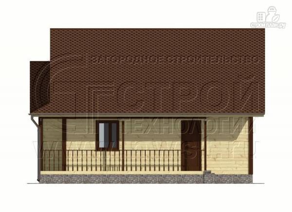 Фото 8: проект дачный дом 7x9 мс мансардой и террасой 16,5 м2