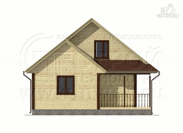 Фото 7: проект дачный дом 7x9 мс мансардой и террасой 16,5 м2
