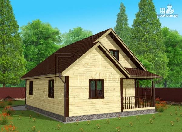 Фото 2: проект дачный дом 7x9 мс мансардой и террасой 16,5 м2