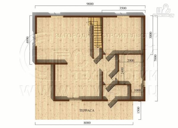 Фото 5: проект дачный дом 7x9 мс мансардой и террасой 16,5 м2