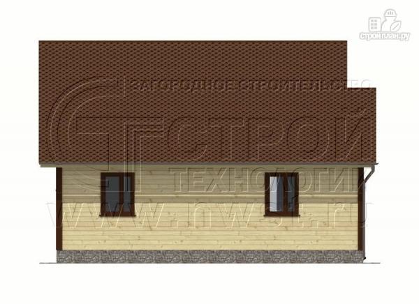 Фото 10: проект дачный дом 7x9 мс мансардой и террасой 16,5 м2