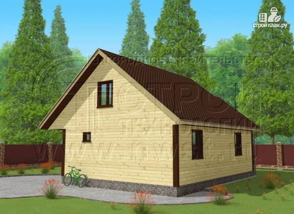 Фото 3: проект дачный дом 7x9 мс мансардой и террасой 16,5 м2