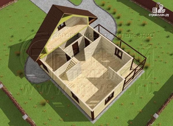 Фото 4: проект дачный дом 7x9 мс мансардой и террасой 16,5 м2