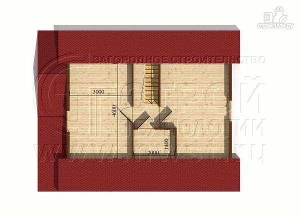 Фото 6: проект дачный дом 7x9 мс мансардой и террасой 16,5 м2