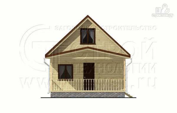 Фото 7: проект дачный дом 6x6 мс мансардой и террасой 18 м2