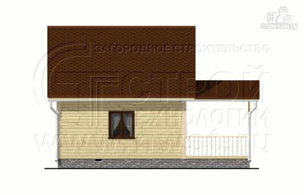 Фото 8: проект дачный дом 6x6 мс мансардой и террасой 18 м2