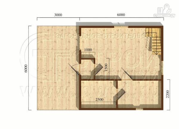 Фото 5: проект дачный дом 6x6 мс мансардой и террасой 18 м2