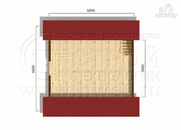 Фото 6: проект дачный дом 6x6 мс мансардой и террасой 18 м2