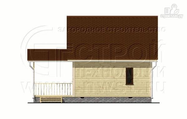 Фото 9: проект дачный дом 6x6 мс мансардой и террасой 18 м2