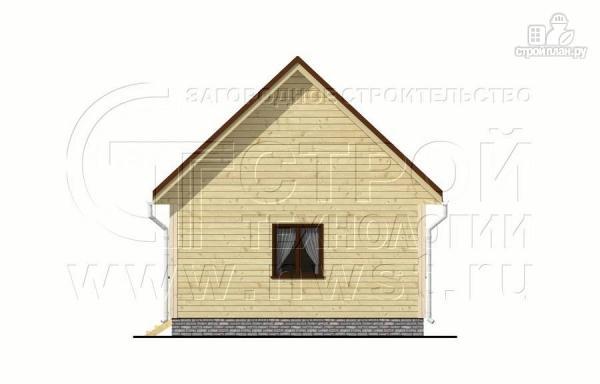 Фото 10: проект дачный дом 6x6 мс мансардой и террасой 18 м2