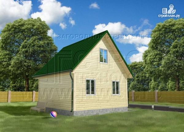 Фото 2: проект дачный дом 6x6 мс мансардой и террасой