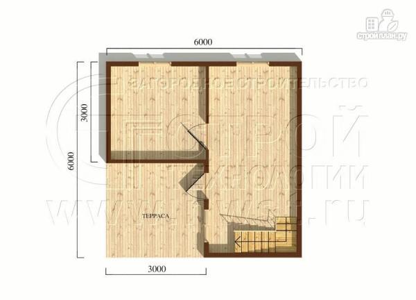 Фото 5: проект дачный дом 6x6 мс мансардой и террасой