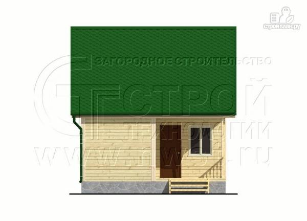 Фото 8: проект дачный дом 6x6 мс мансардой и террасой