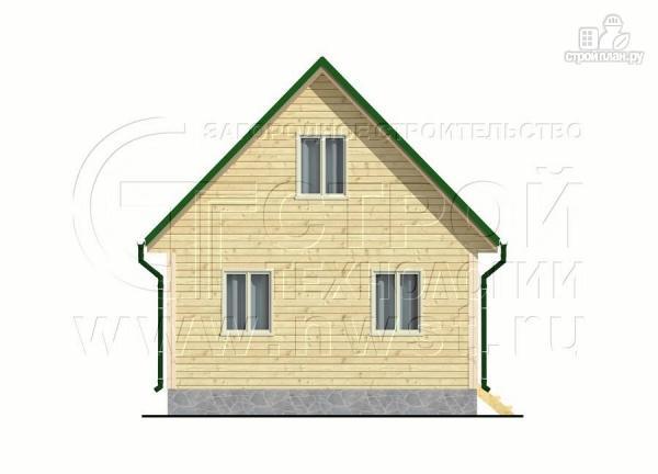 Фото 10: проект дачный дом 6x6 мс мансардой и террасой