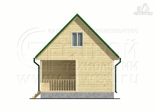 Фото 7: проект дачный дом 6x6 мс мансардой и террасой