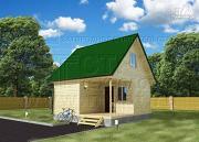 Фото: дачный дом 6x6 мс мансардой и террасой