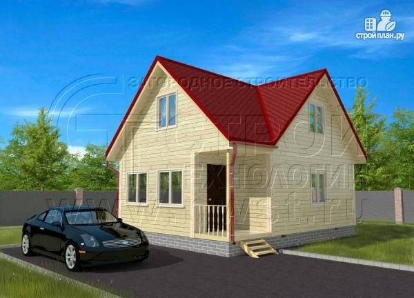 Фото: проект дачный дом 6х6 мс мансардой и верандой