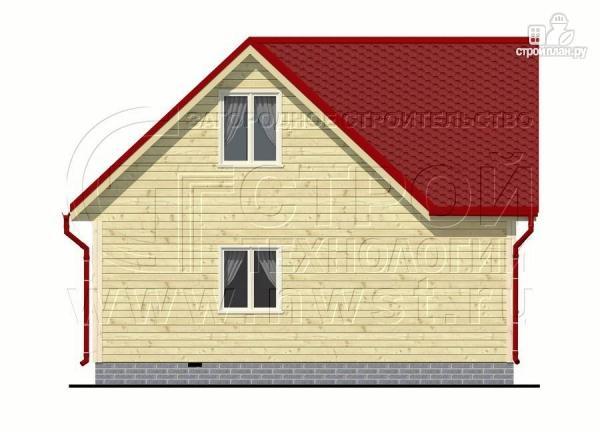Фото 10: проект дачный дом 6х6 мс мансардой и верандой
