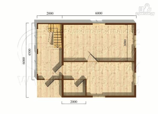 Фото 5: проект дачный дом 6х6 мс мансардой и верандой
