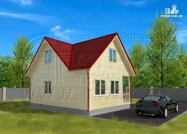 Фото 3: проект дачный дом 6х6 мс мансардой и верандой