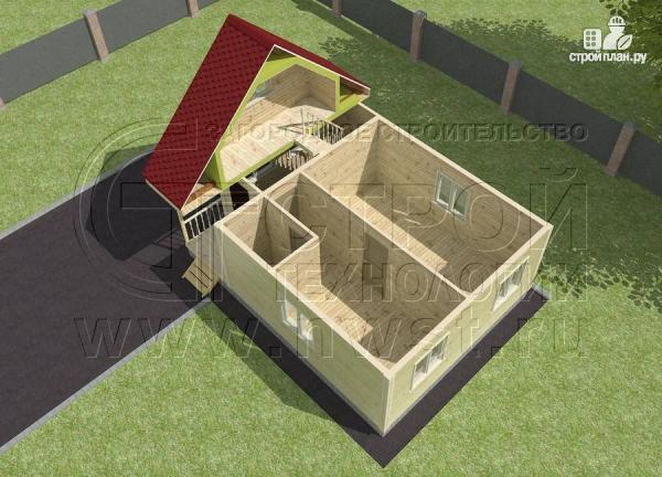Фото 4: проект дачный дом 6х6 мс мансардой и верандой