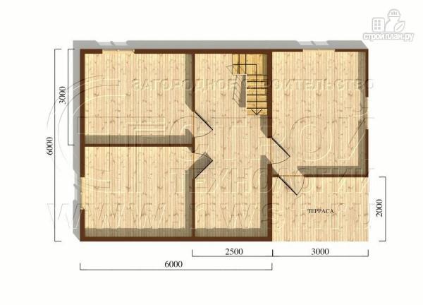 Фото 5: проект дом 6x6 мс мансардой и террасой