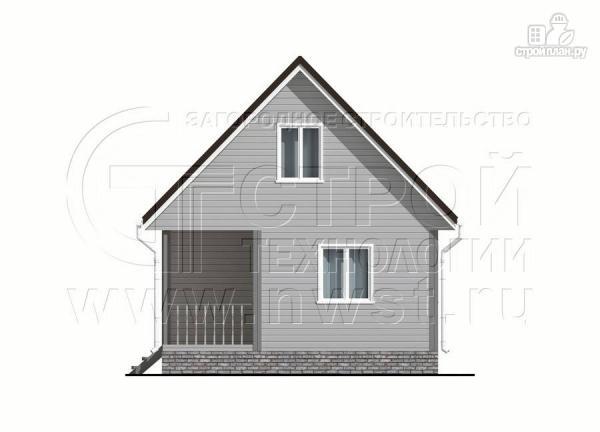 Фото 8: проект дом 6x6 мс мансардой и террасой