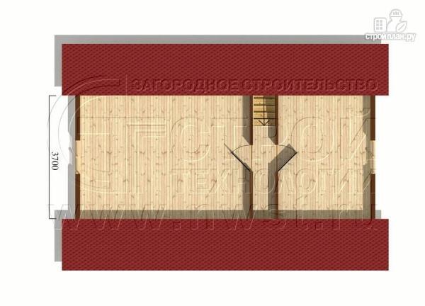 Фото 6: проект дом 6x6 мс мансардой и террасой
