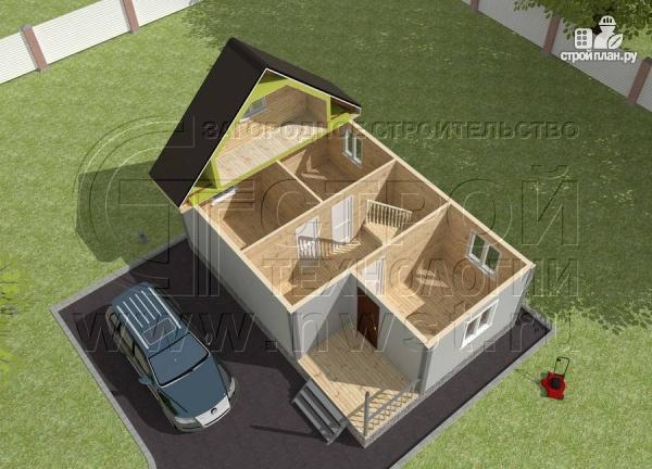 Фото 4: проект дом 6x6 мс мансардой и террасой