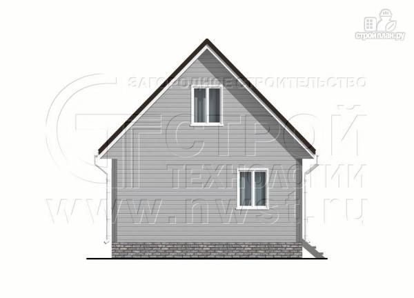 Фото 10: проект дом 6x6 мс мансардой и террасой