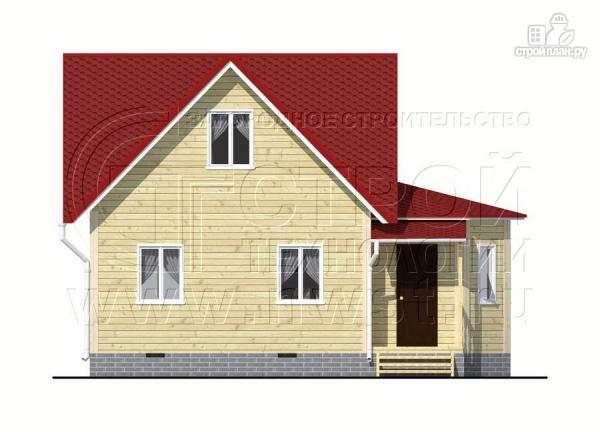 Фото 9: проект загородный дом 6x6 мс многощипцовой крышей и верандой в эркере