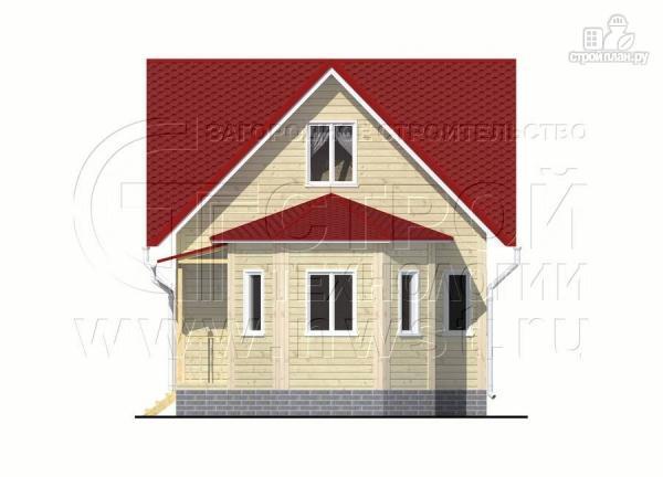 Фото 7: проект загородный дом 6x6 мс многощипцовой крышей и верандой в эркере