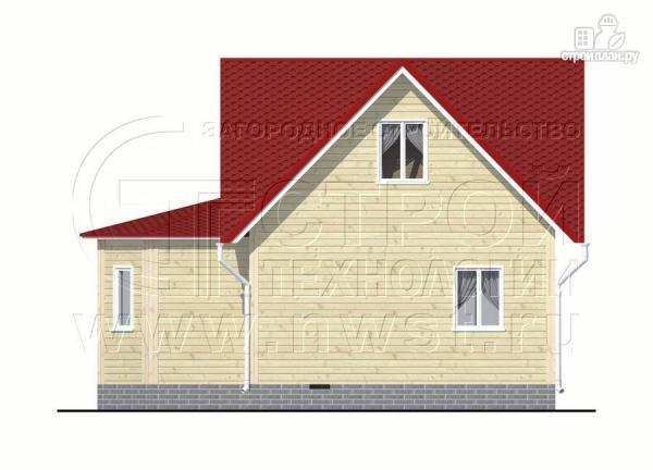 Фото 8: проект загородный дом 6x6 мс многощипцовой крышей и верандой в эркере