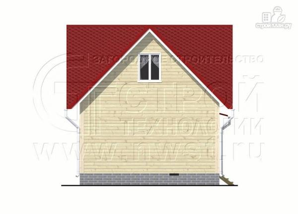 Фото 10: проект загородный дом 6x6 мс многощипцовой крышей и верандой в эркере