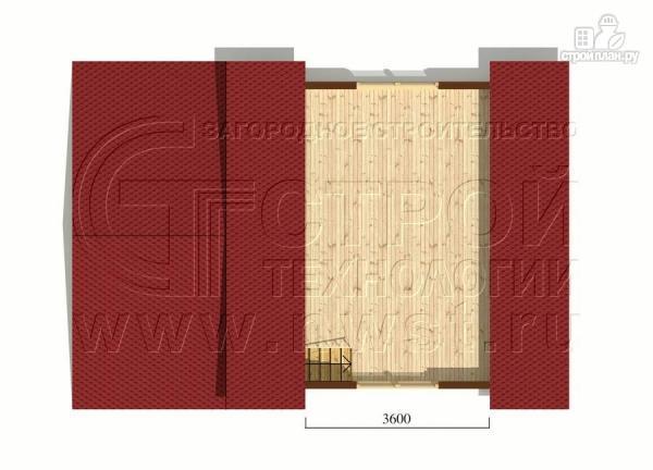 Фото 6: проект дом 6х6 м с мансардой, верандой 9 м2и террасой 9 м2