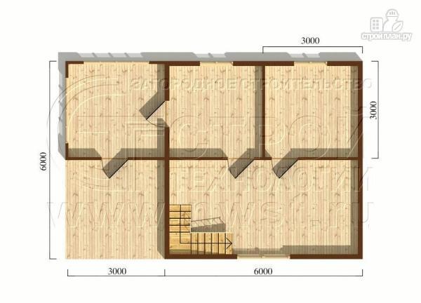 Фото 5: проект дом 6х6 м с мансардой, верандой 9 м2и террасой 9 м2