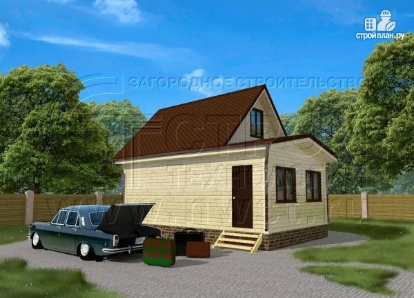 Фото: проект дом 5х6 м с верандой 10 м2