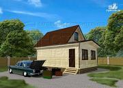 Проект дом 5х6 м с верандой 10 м2