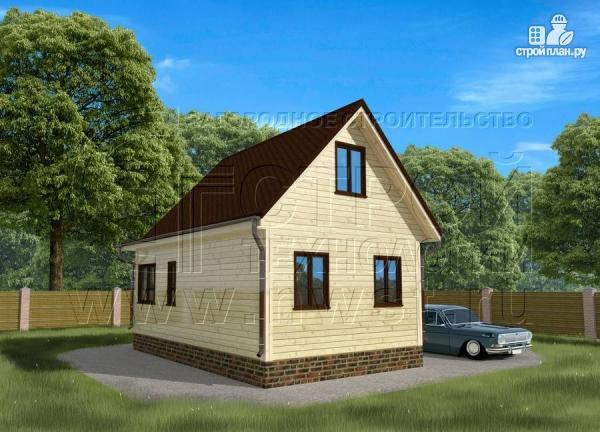 Фото 3: проект дом 5х6 м с верандой 10 м2