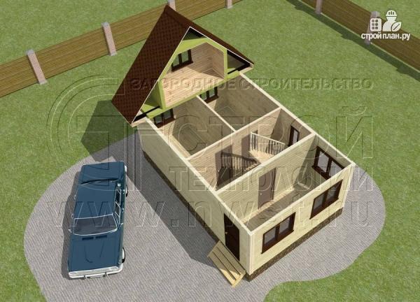 Фото 4: проект дом 5х6 м с верандой 10 м2
