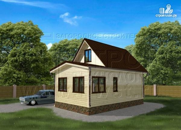 Фото 2: проект дом 5х6 м с верандой 10 м2