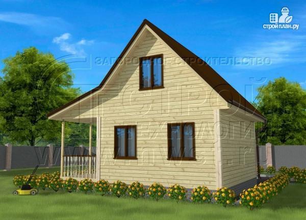 Фото: проект дачный дом 6х5 из бруса с террасой