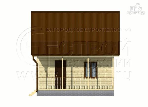 Фото 10: проект дачный дом 6х5 из бруса с террасой