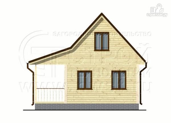 Фото 9: проект дачный дом 6х5 из бруса с террасой