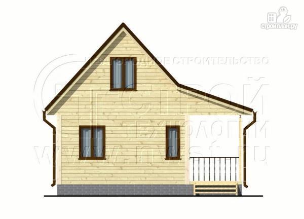 Фото 7: проект дачный дом 6х5 из бруса с террасой