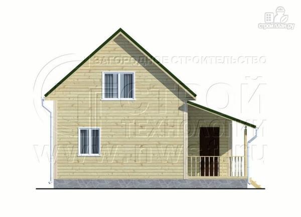 Фото 7: проект дачный дом 6х6 м в полтора этажа с террасой