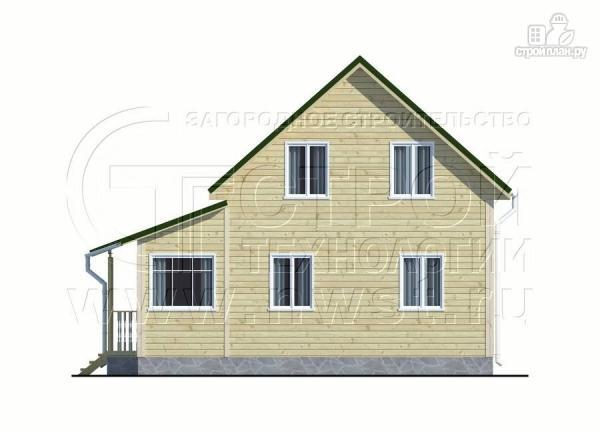 Фото 9: проект дачный дом 6х6 м в полтора этажа с террасой